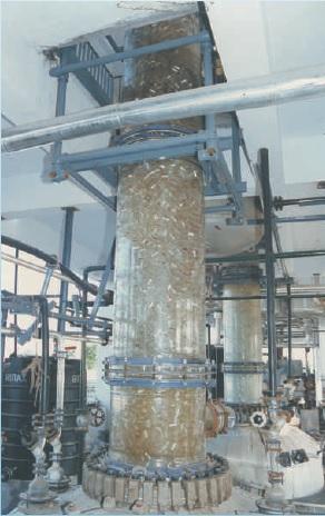 Distillation set up over GLR