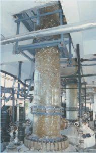 Glass Distillation Set over Glass lined Reactor